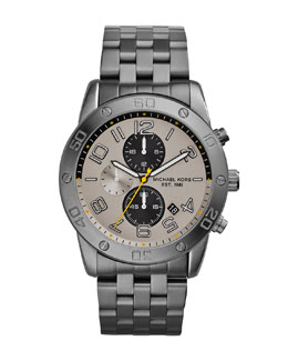 Michael Kors  Men's Gunmetal Stainless Steel Mercer Chronograph Watch
