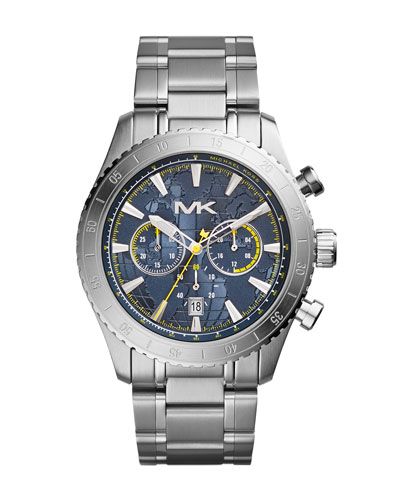 Michael Kors  Men's Silver Color Stainless Steel Richardson Chronograph Watch