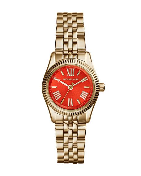 Petite Golden Stainless Steel Lexington Three-Hand Watch