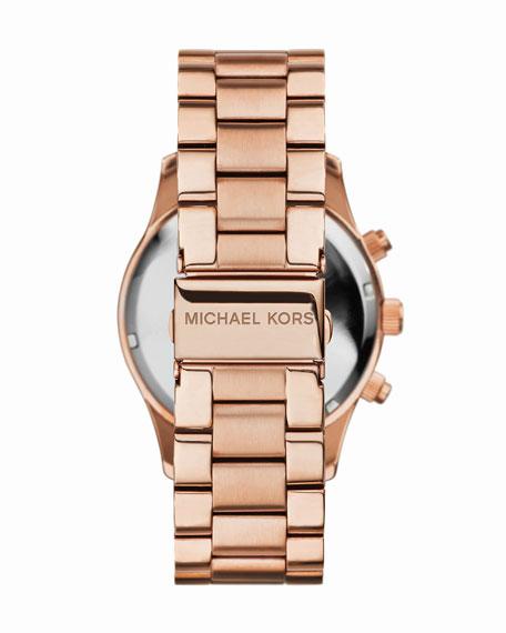 Mid-Size Rose Golden Stainless Steel Layton Glitz Watch