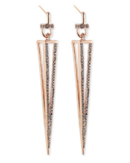 Paige Novick Rose Gold Plated Caged Spike Earrings