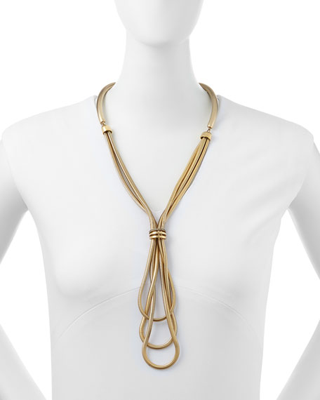 Gold-Plated Snake Necklace