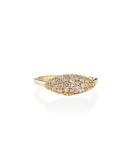 Alexis Bittar Fine Yellow Gold White Diamond Marquise Ring