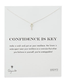 Dogeared Confidence is Key Silver-Plated Necklace