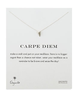 Dogeared Carpe Diem Silver-Plated Necklace