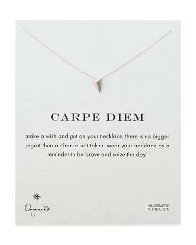 Dogeared Carpe Diem Silver-Plated Necklace