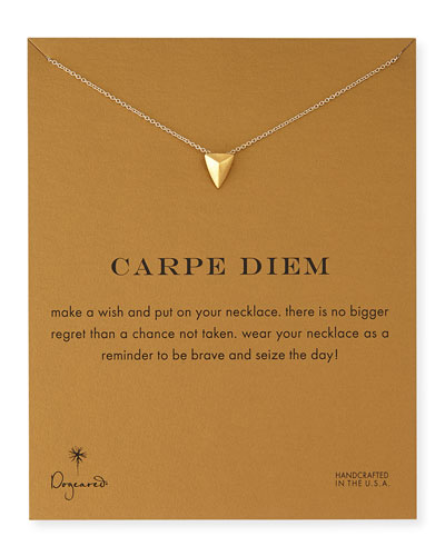 Gold-Dipped Carpe Diem Necklace