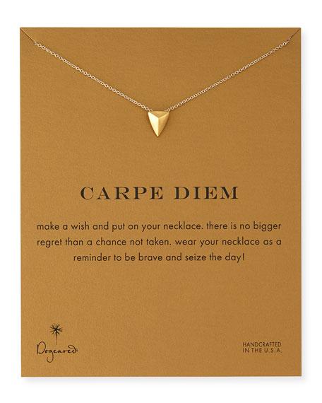 Gold-Dipped Carpe Diem Necklace