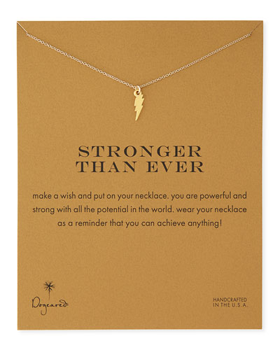 Stronger Than Ever Gold-Dipped Necklace