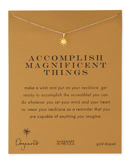 Dogeared Gold-Dipped Accomplish Magnificent Things Necklace