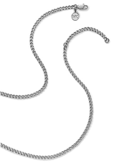Delicate Padlock Necklace, Silver Color