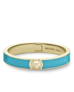 Michael Kors  Skinny Fulton Bangle, Golden/Turquoise