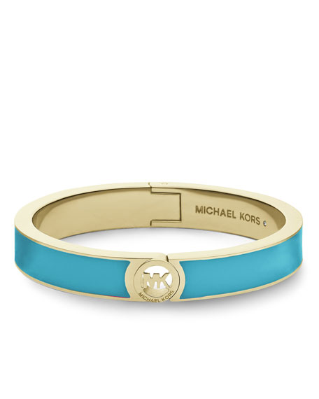Skinny Fulton Bangle, Golden/Turquoise