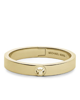 Michael Kors Fulton Hinge Bangle, Golden