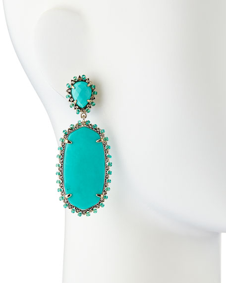 Parsons Clip-On Earrings, Teal