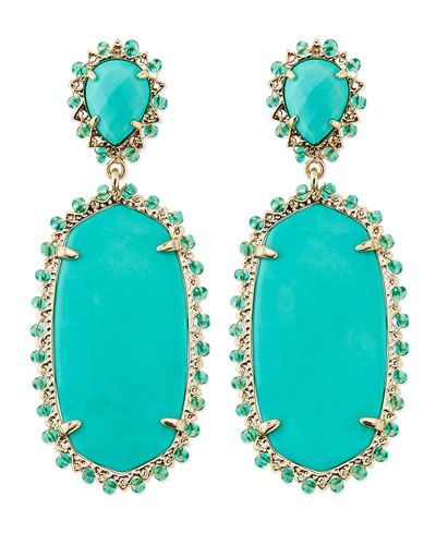 Kendra Scott Parsons Clip-On Earrings, Teal