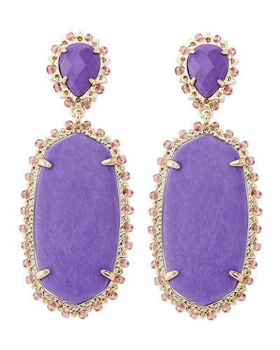 Kendra Scott Parsons Clip-On Earrings, Violet
