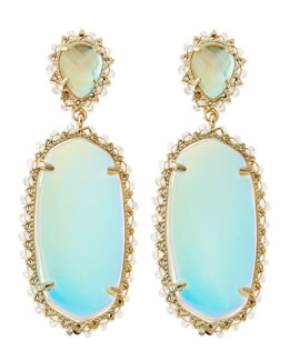 Kendra Scott Parsons Clip-On Earrings, Translucent Iridescent