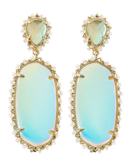 Parsons Clip-On Earrings, Translucent Iridescent