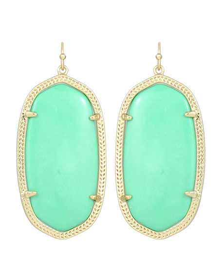 Danielle Earrings, Seafoam Magnesite