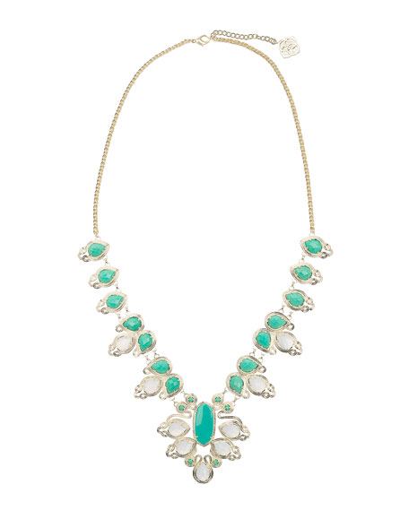 Turquoise & Translucent Tedi Necklace