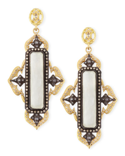 Armenta Old World Moonstone Cravelli Cross Earrings