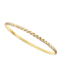 Armenta Sueno Yellow Gold Eternity Bangle with Rainbow Moonstone