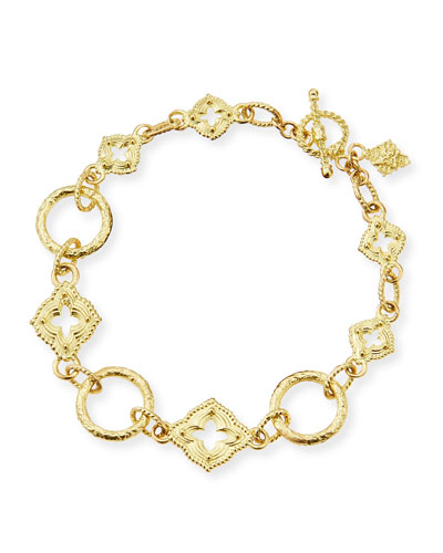 18-Karat Yellow Gold Sculpted Link Bracelet