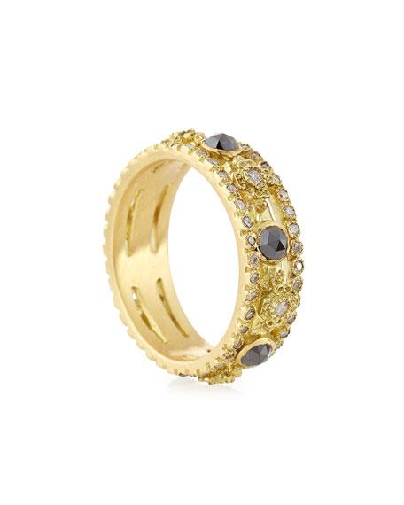 Sueno Yellow Gold Band Ring with Diamonds