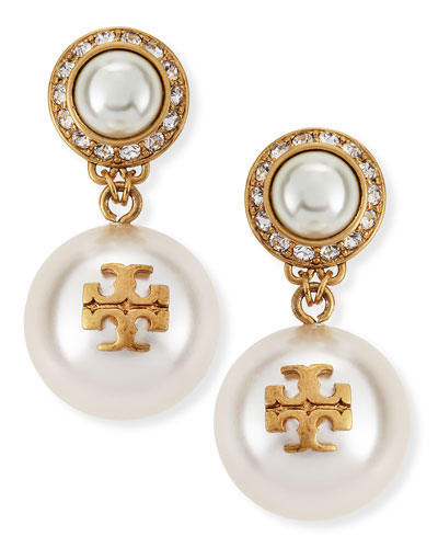 Selma Pearly Drop Earrings, Ivory