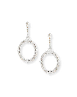 Armenta New World Champagne Diamond Oval Earrings