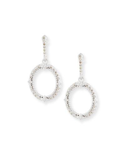 Armenta New World Champagne Diamond Oval Earrings