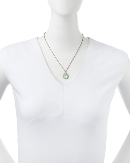 New World Quartz/Green Turquoise Pendant Necklace