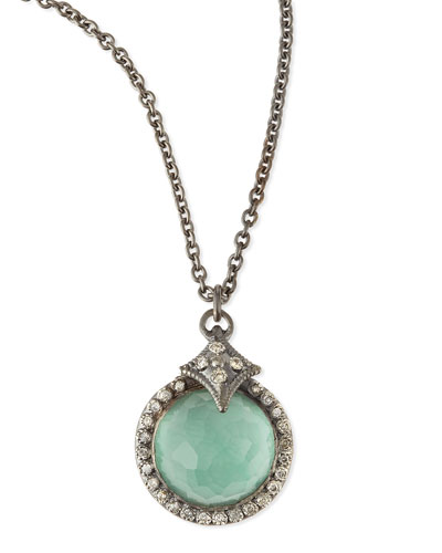 Armenta New World Quartz/Green Turquoise Pendant Necklace