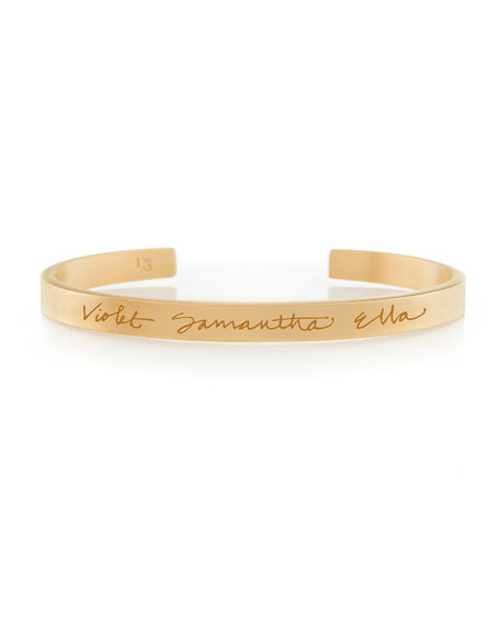 18k Vermeil Customizable Graffiti Bracelet