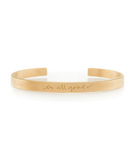K Kane 18k Vermeil Customizable Graffiti Bracelet