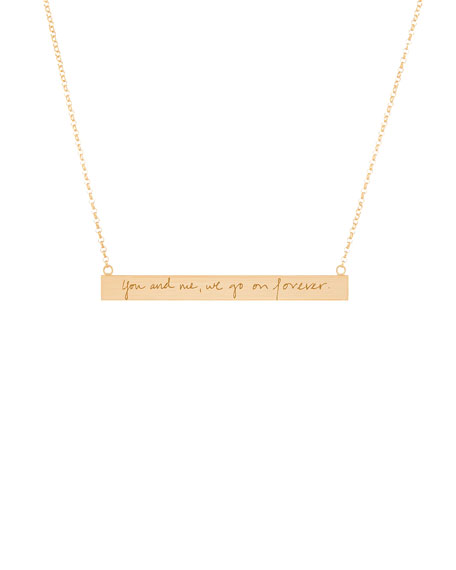 18k Vermeil Customizable Graffiti Bar Necklace