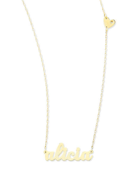 Jennifer Zeuner Abigail-Style Personalized Name Necklace with