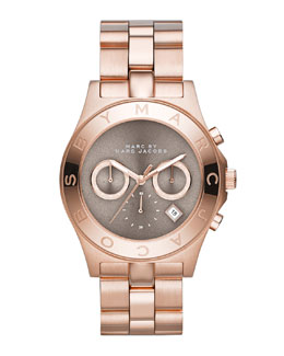 MARC by Marc Jacobs Blade Rose Golden Chronograph Watch with Gray Dial