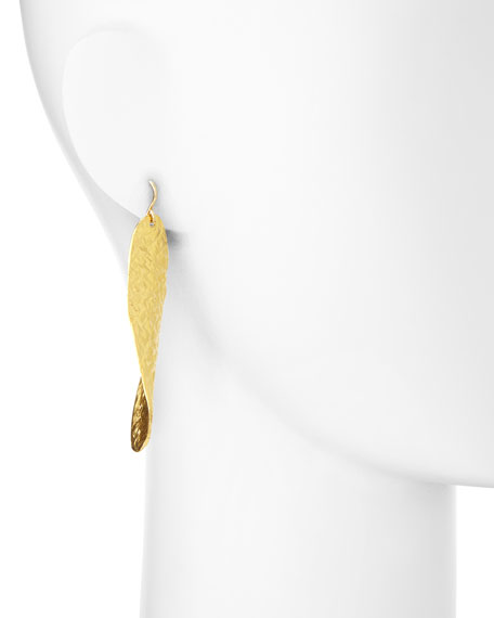 18k Gold Dipped Textured Wave Earrings