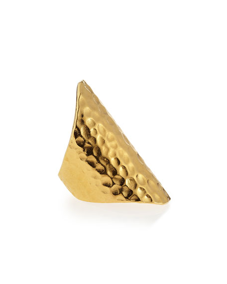 18k Gold Dipped Hammered Ring