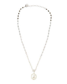 Majorica Gray & White Pearl Necklace