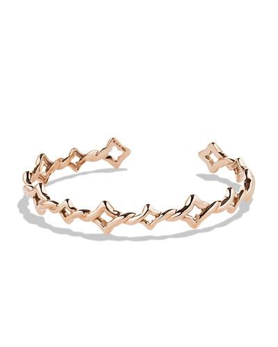 David Yurman Venetian Quatrefoil Single-Row Cuff Bracelet in Rose Gold