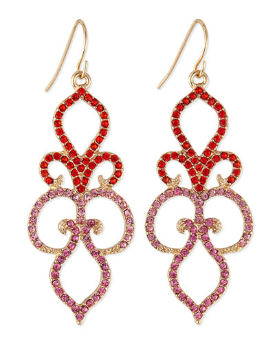 Sequin Jaipur Damask Drop Earrings