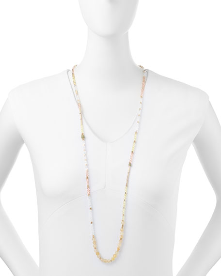 Crystal Gradient Strand Necklace