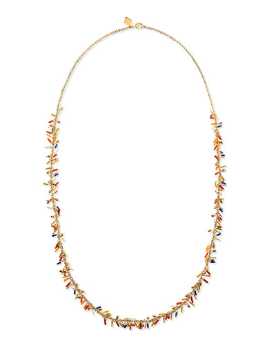 Sequin Long Delicate Seed Bead Necklace