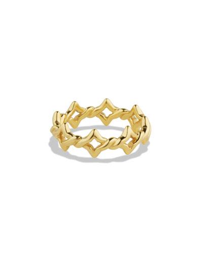 David Yurman Venetian Quatrefoil Stacking Ring in Gold