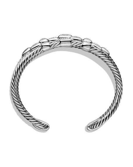 Confetti Wide Cuff Bracelet with Diamonds