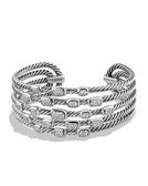 David Yurman Confetti Wide Cuff Bracelet with Diamonds