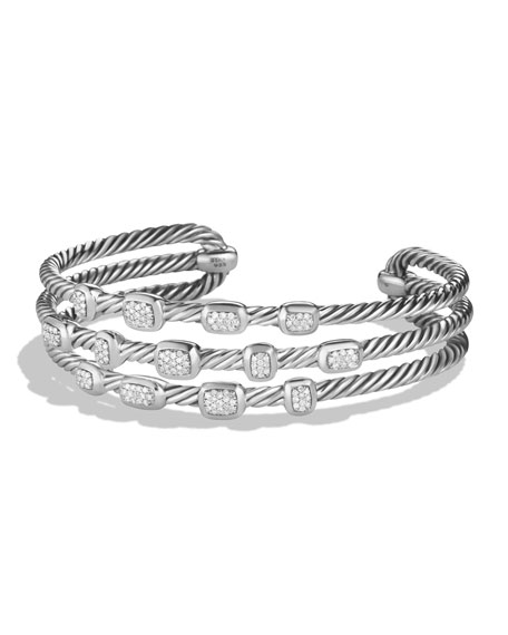 David Yurman Confetti Narrow Cuff Bracelet with Diamonds